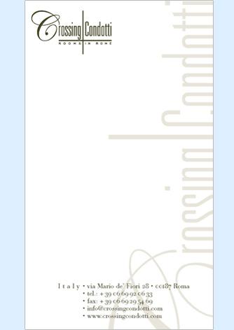 Logo e Brand Identity per prestigioso B&B - Crossing Condotti - Biancolapis - Design per la Comunicazione