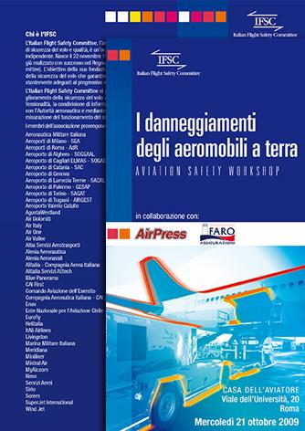 Leaflet per Aviation Safety Workshop |Biancolapis - Design per la Comunicazione