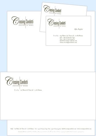 Corporate identity Crossing Condotti - Biancolapis - Design per la comunicazione