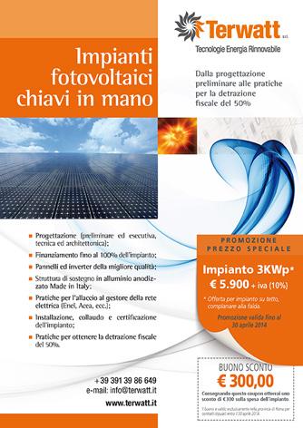 Pagina pubblicitaria Terwatt - Biancolapis - Design per la comunicazione