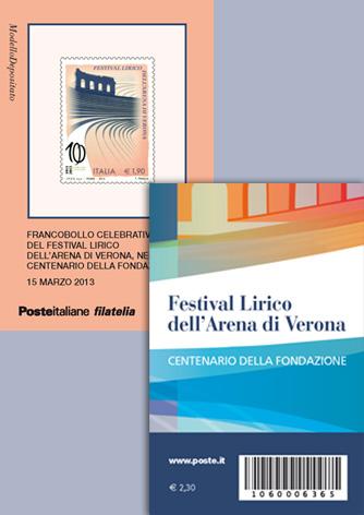 Tessera Filatelica Festival Lirico dell'Arena di Verona - Biancolapis - Design per la Comunicazione